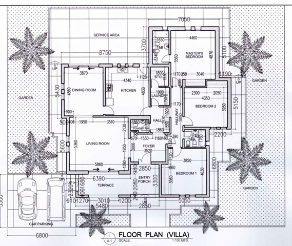 Floorplan of house in najd compound gtz saudi arabia for Compound house plans